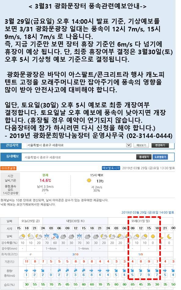 20190331 광화문희망나눔장터 풍속관련 예보 안내.jpg